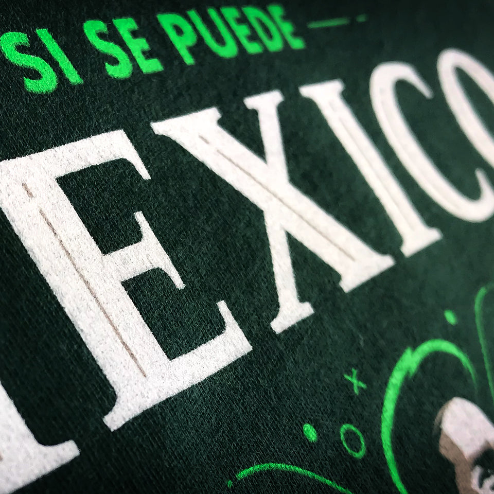Closeup Mexico Si Se Puede T-Shirt UltimateFan