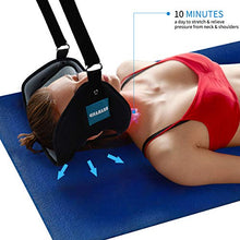Load image into Gallery viewer, Neck Head Hammock, Cervical Neck Traction Device with Ear Holes,Portable Cervical Traction Device for Neck Pain Relief and Physical Therapy Neck and Shoulder Relaxer
