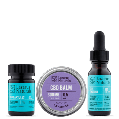 CBD Standard Potency Gift Pack Lazarus Naturals - Sold by Peacefully You