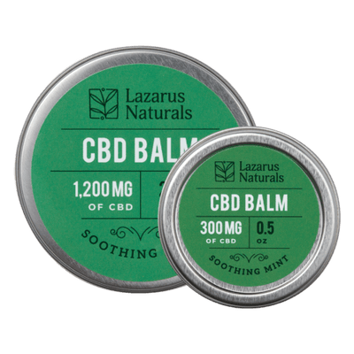 CBD Balm Mint Flavor - Lazarus Naturals - Sold by Peacefully You
