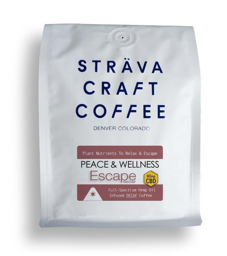 CBD Strava ESCAPE- Hemp Oil Infused Coffee DECAF (60mg) - Peacefully You