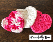 Heart Shaped Facial Cleansing Pads - Handmade by Peacefully You