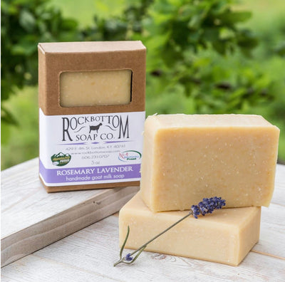 Handmade Goat Milk Bar Soap - Rosemary Lavender - Peacefully You