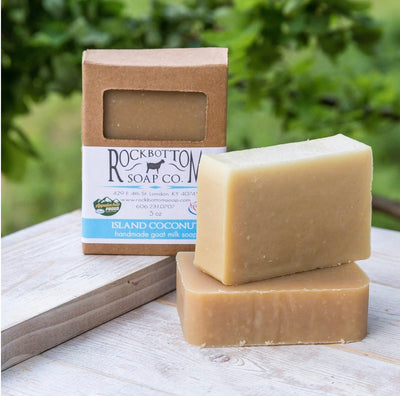 Handmade Goat Milk Bar Soap - Island Coconut - Sold by Peacefully You