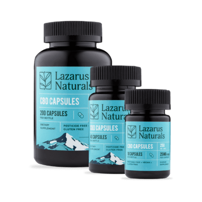 CBD Full Spectrum Capsules 25 mg Lazarus Naturals - Sold by Peacefully You