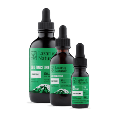 CBD High Potency Full Spectrum Tincture Lazarus Naturals - Sold by Peacefully You