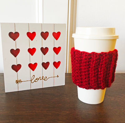 Coffee Cup Sleeve Cozy - Available in 7 Colors - Peacefully You