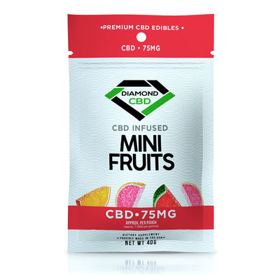 Diamond CBD Gummies - Infused Mini Fruit - 75mg