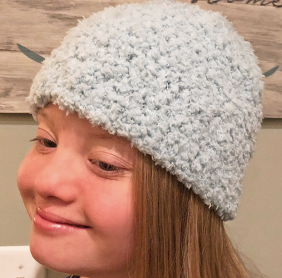 Spa Blue Hat - Women/Teen - Handmade by Peacefully You