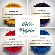 Dish Scrubbies/Cleaning Pads - Available in 6 Colors - Handmade by Peacefully You