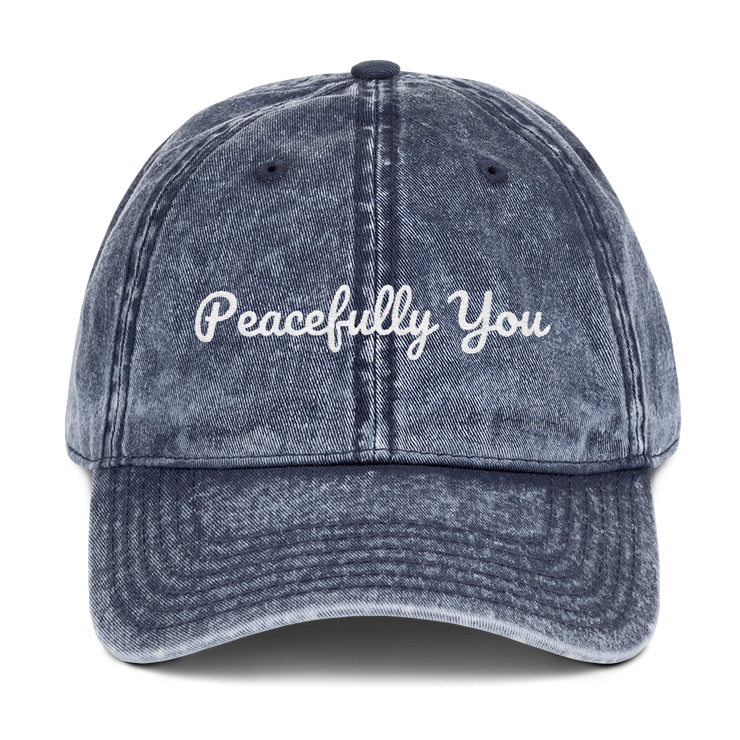 Peacefully You Vintage Cotton Twill Cap - Sold by Peacefully You