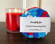 Facial Cleansing Pads - 9 FUN Color Choices - Handmade by Peacefully You