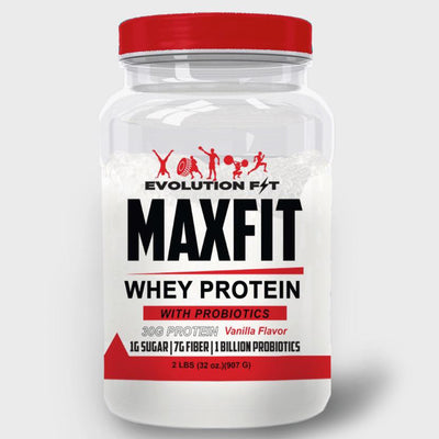 MAXFIT WHEY PROTEIN WITH PROBIOTICS - Evolution Fit
