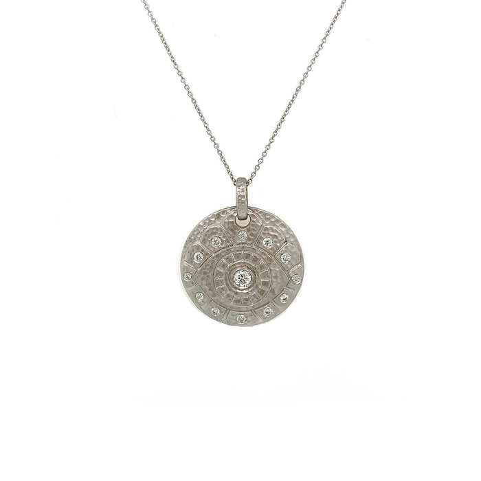 14kt Diamond Protection Medallion Necklace