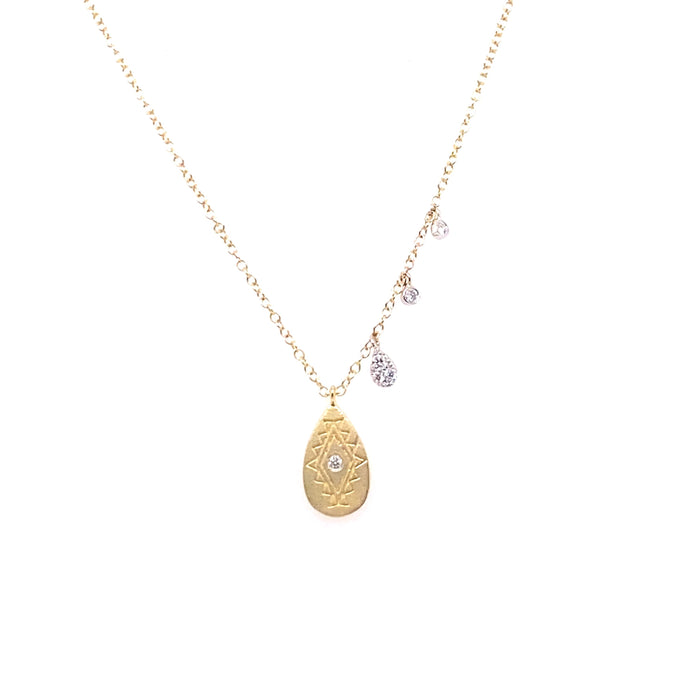 Meira T 14kt Yellow Gold Diamond Tribal Charm Necklace