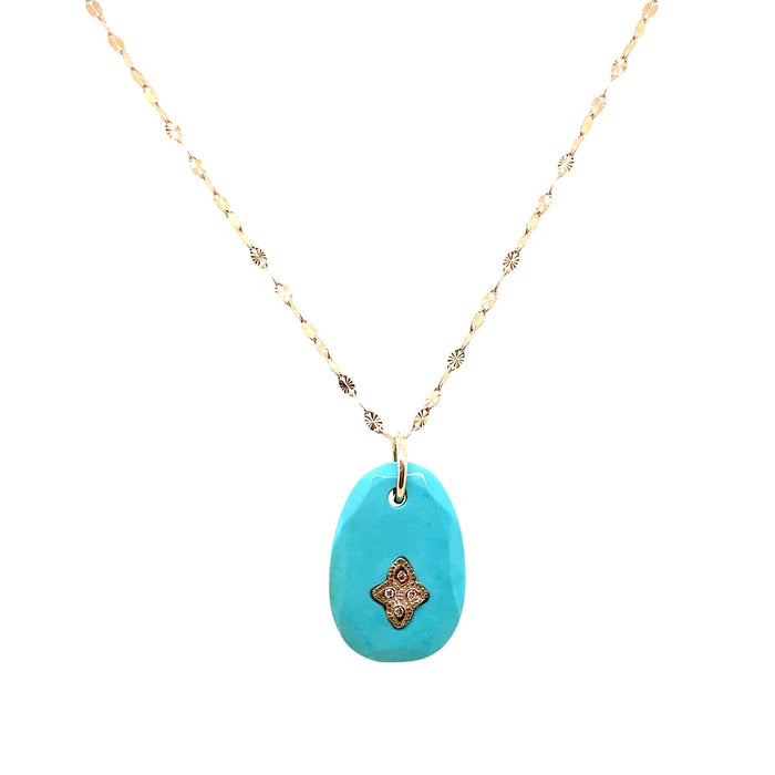 Pascale Monvoisin Turquoise + Diamond Giai N°1 Necklace