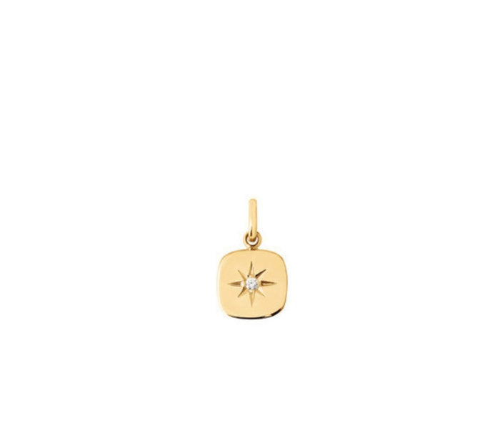 Gigi Clozeau 18kt Miss Gigi Star-Set Diamond Charm