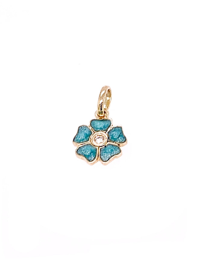 Gigi Clozeau 18kt Diamond Flower Resin Charm