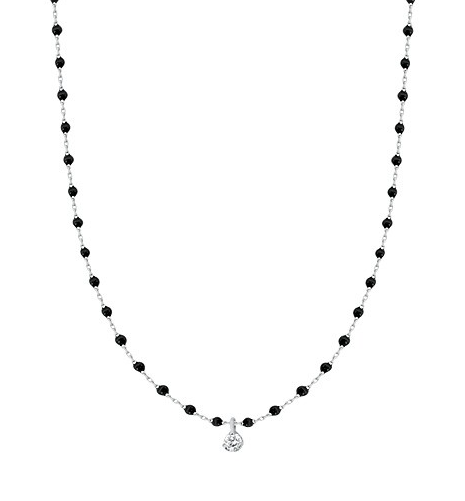 Gigi Clozeau 18K Mini Single Diamond Resin Necklace