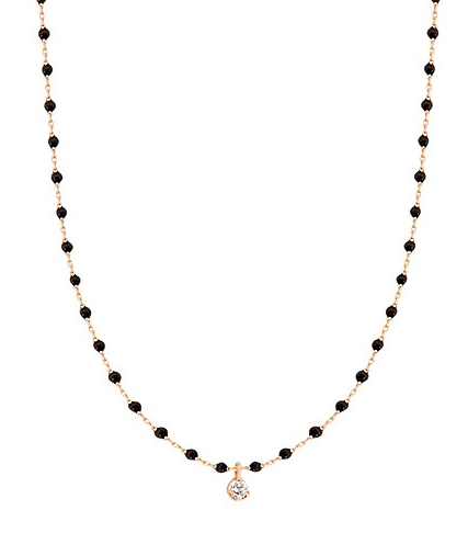 Gigi Clozeau 18kt Mini Single Diamond Resin Necklace