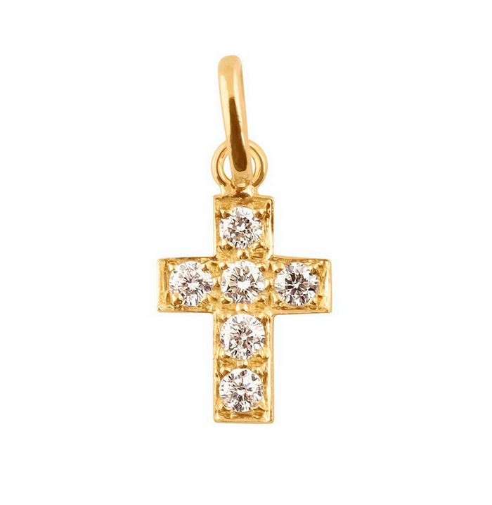Gigi Clozeau 18kt Diamond Cross Pendant
