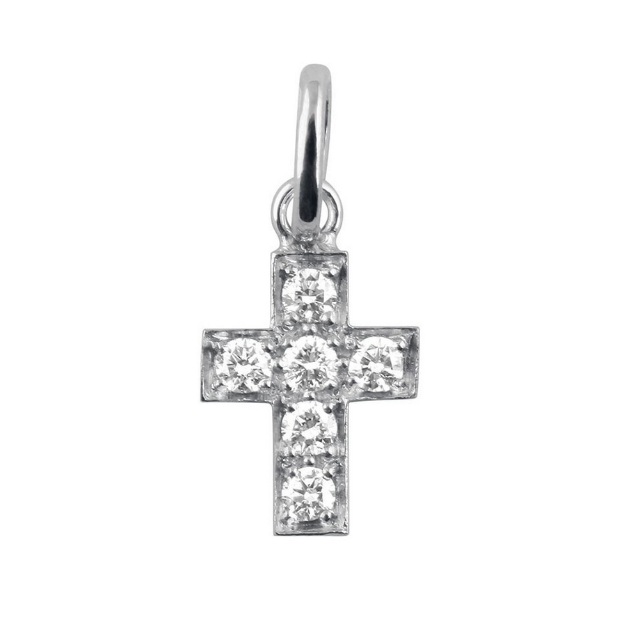 Gigi Clozeau 18K Diamond Cross Pendant