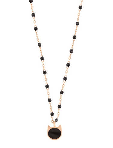 Gigi Clozeau 18K Classic Resin Chat Pendant Necklace