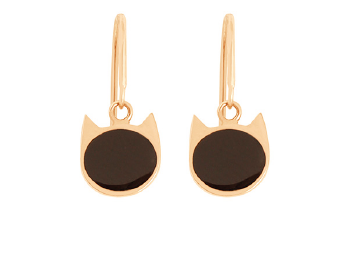Gigi Clozeau 18K Cat Resin Earrings