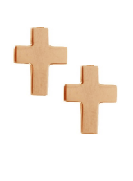 Gigi Clozeau 18K Madone Cross Stud Earrings