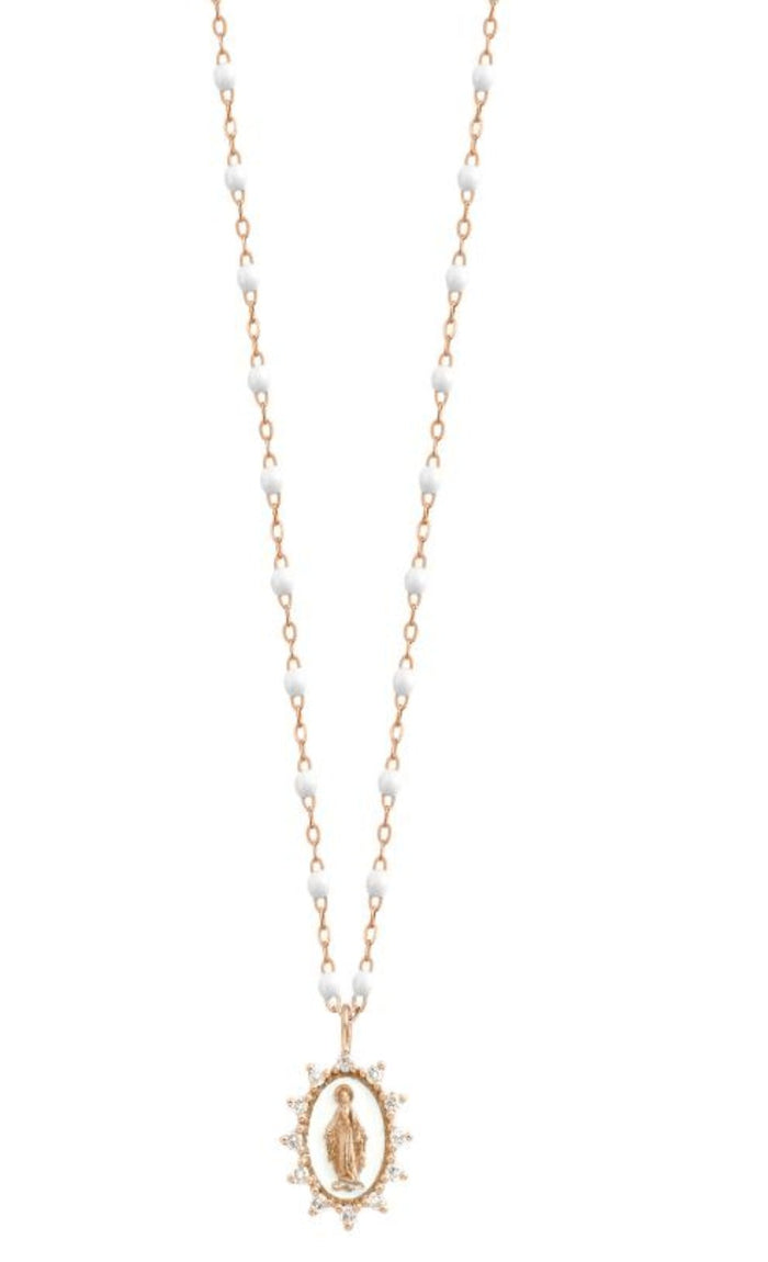 Gigi Clozeau 18kt Petite Supreme Diamond Madone Necklace