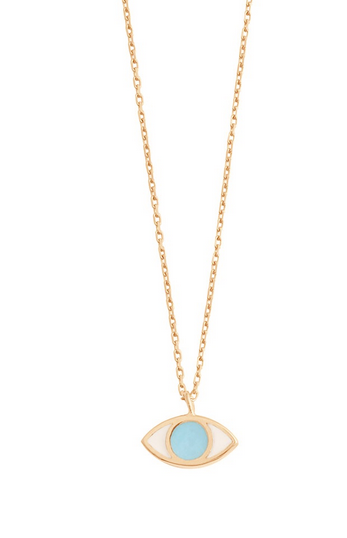 Gigi Clozeau 18kt Resin Eye Charm Necklace
