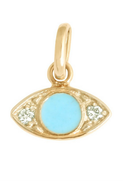 Gigi Clozeau 18kt Diamond Resin Eye Charm