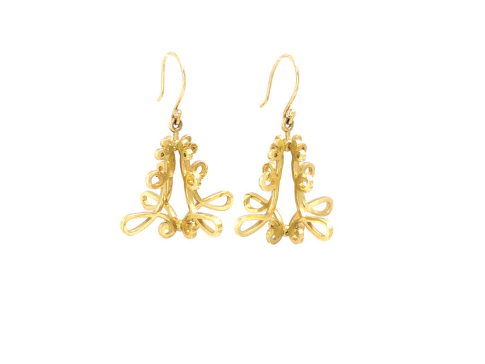 Exclusive 14K Ornate Asheville Chandelier Dangle Earrings
