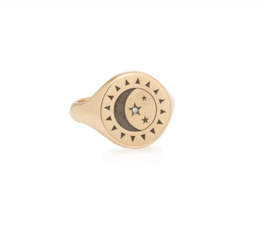 Zoë Chicco 14kt Total Eclipse Signet Ring