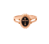 Gigi Clozeau 18kt Resin Cross Signet Ring