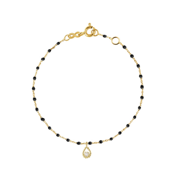 Gigi Clozeau 18kt Diamond Lucky Mini Resin Bracelet