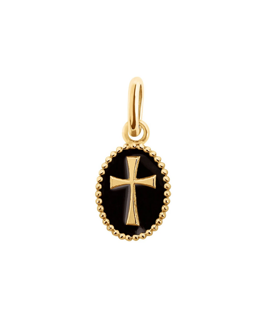 Gigi Clozeau 18kt Resin Cross Pendant