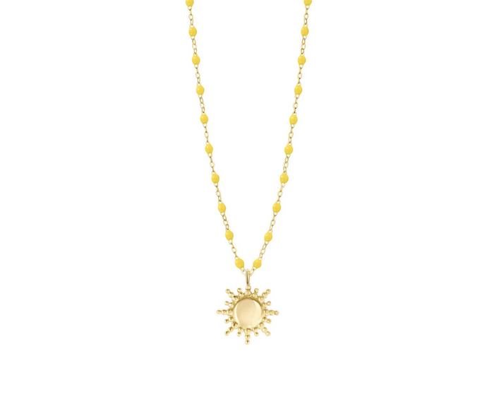 Gigi Clozeau 18kt Yellow Gold Classic Resin Sun Necklace