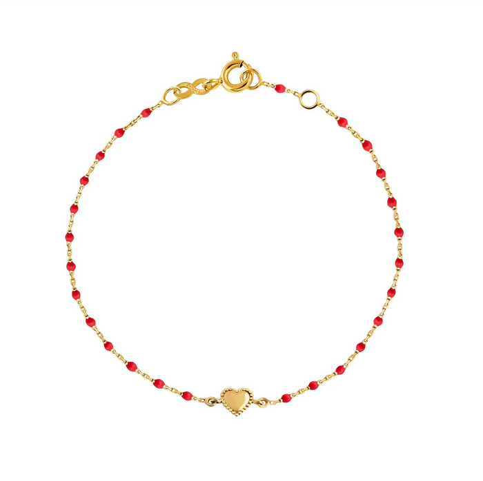 Gigi Clozeau 18kt Yellow Gold Mini Lucky Heart Resin Bracelet