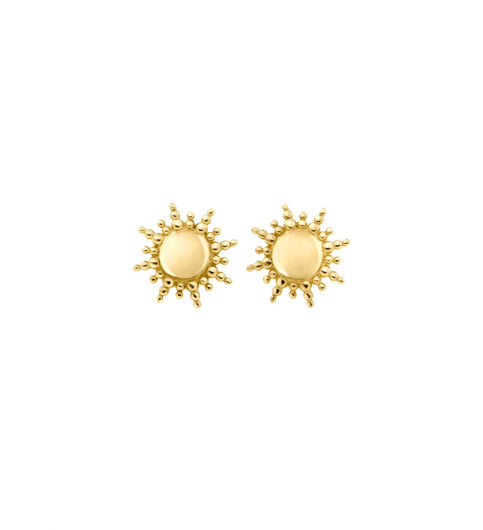Gigi Clozeau 18kt Yellow Gold Sun Stud Earrings