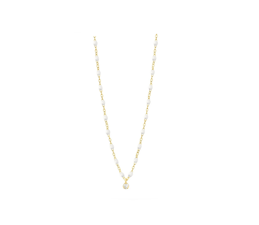 Gigi Clozeau 18kt Classic Supreme Single Diamond Resin Necklace
