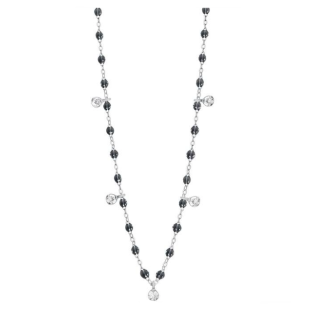 Gigi Clozeau 18kt Classic Supreme Five Diamond Resin Necklace
