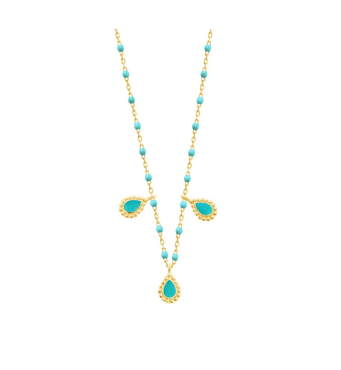Gigi Clozeau 18kt Mini Three Lucky Cahsmere Necklace