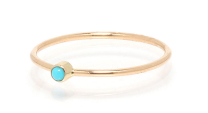 Zoë Chicco 14kt Tiny Turquoise Bezel Stackable Ring