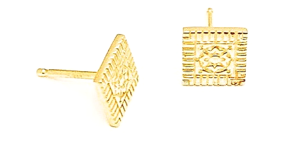 Exclusive 14kt Ornate Lexington Stud Earrings