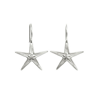 Catherine Weitzman Large Sterling Silver Starfish Earrings