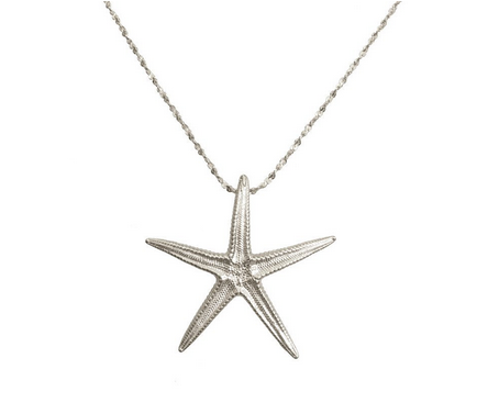 Catherine Weitzman Sterling Silver Large Starfish Necklace