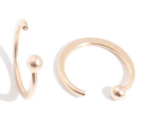 Melissa Joy Manning 14kt Hug Hoop Earrings