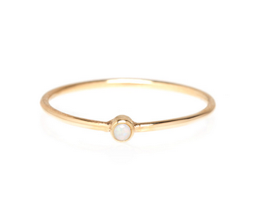 Zoë Chicco 14K Tiny Opal Bezel Stackable Ring