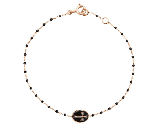 Gigi Clozeau 18K Mini Resin Cross Medallion Bracelet